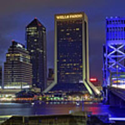 Crossing The Main Street Bridge - Jacksonville - Florida - Cityscape Art Print by Jason Politte