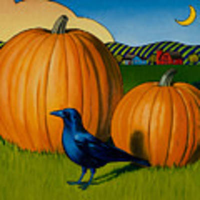 Crows Harvest Original by Stacey Neumiller