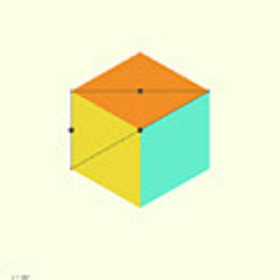 Cube Art Print by Jazzberry Blue