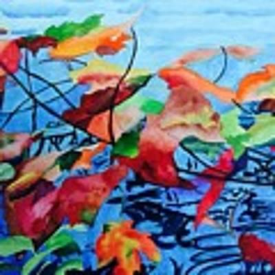 Dancing Over Water Art Print by Patti Ferron