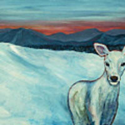 Deer Jud Art Print by Angelique Bowman