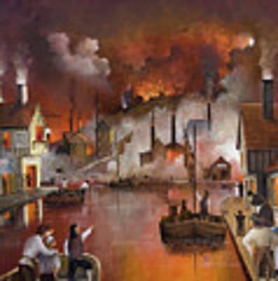Destruction Of Dudley Castle Art Print by Ken Wood