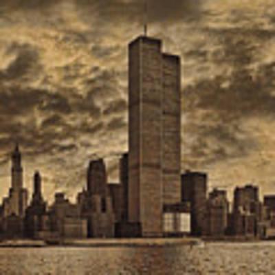 Downtown Manhattan Circa Nineteen Seventy Nine  Art Print by Chris Lord