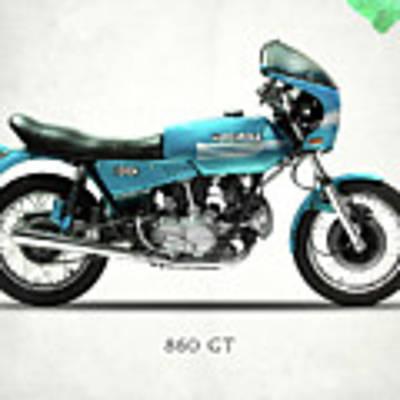 Ducati 860 Gt 1975 Art Print by Mark Rogan