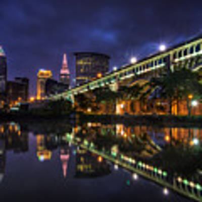 Early Morning Riverside In Cleveland Art Print by At Lands End Photography