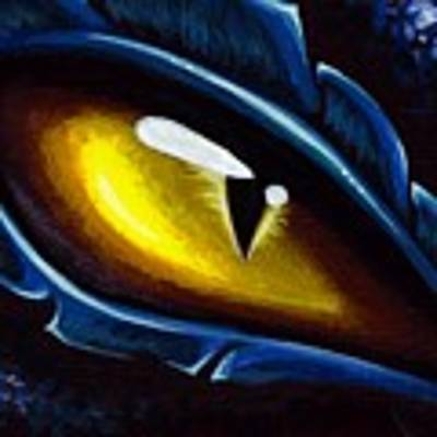 Eye Of The Blue Dragon Art Print