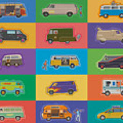 Famous Vans Art Print by Mitch Frey