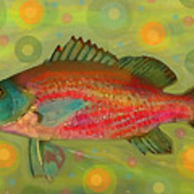 Fanciful Pink Snapper  Art Print by Shelli Fitzpatrick