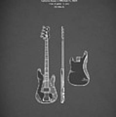 Fender Bass Guitar 1960 Art Print