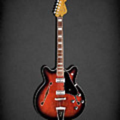 Fender Coronado Art Print by Mark Rogan