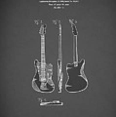 Fender Electric Guitar 1959 Art Print by Mark Rogan