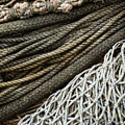 Fishing Nets Art Print by Carol Leigh