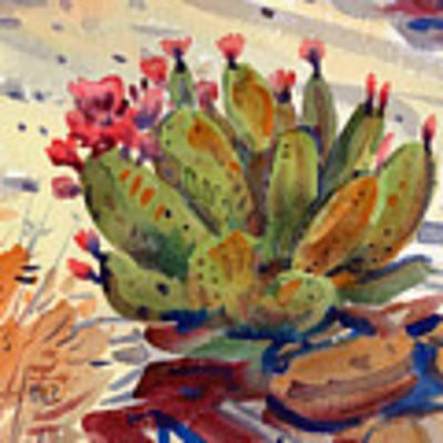 Flowering Opuntia Original by Donald Maier