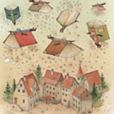 Flying Books Art Print
