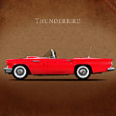 Ford Thunderbird 1957 Art Print