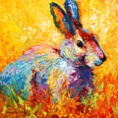 Forest Bunny Art Print by Marion Rose