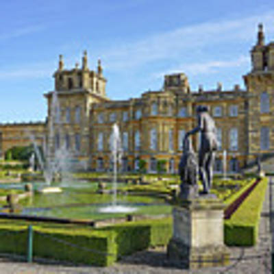 Formal Garden Blenheim Palace Art Print by Joe Winkler