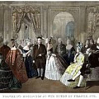Franklin's Reception At The Court Of France Art Print by War Is Hell Store