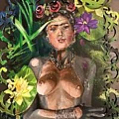 Frida De Ophelia Art Print by Baroquen Krafts
