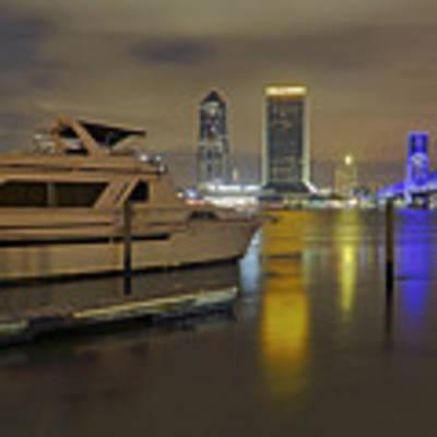 Friendship Park Marina - Jacksonville Florida - Skyline Art Print by Jason Politte
