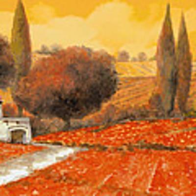 fuoco di Toscana Art Print by Guido Borelli