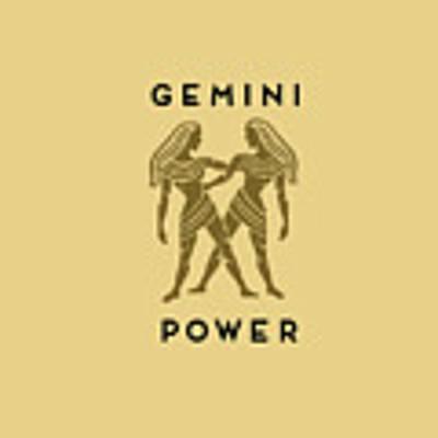 Gemini Power Art Print by Judy Hall-Folde