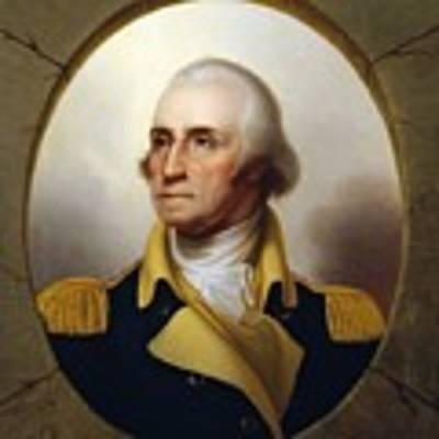General Washington - Porthole Portrait  Art Print by War Is Hell Store