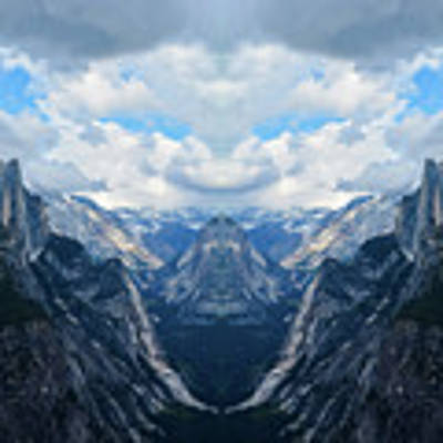 Glacier Point Yosemite Mirror Art Print by Kyle Hanson