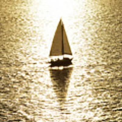 Golden Sail Art Print by Robert WK Clark