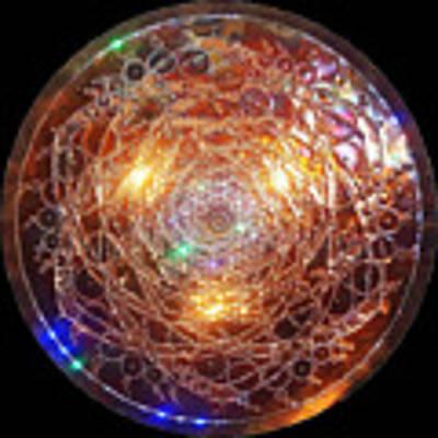 Golden Spiral Copper Lightmandala Art Print by Robert Thalmeier