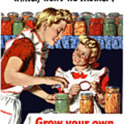 Grow Your Own Can Your Own  Art Print