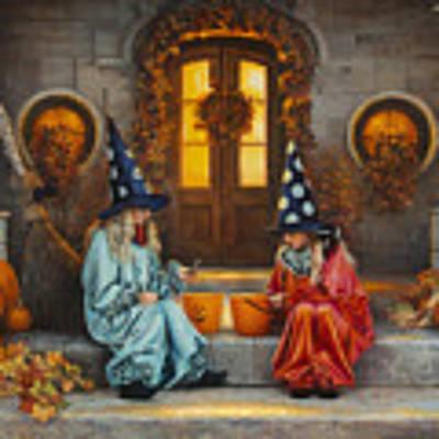 Halloween Sweetness Art Print by Greg Olsen