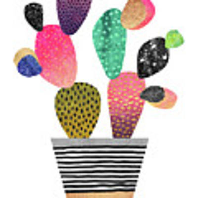 Happy Cactus Art Print by Elisabeth Fredriksson