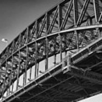 Harbor Bridge In Black And White Art Print by Yew Kwang
