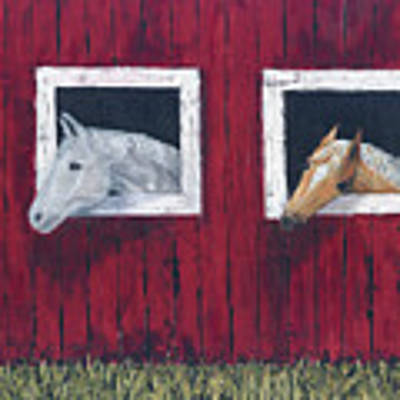 He And She Art Print by Kathryn Riley Parker