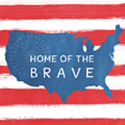 Home Of The Brave Art Print by Linda Woods