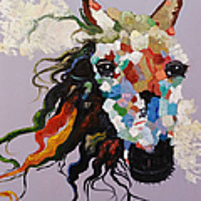 Puzzle Horse Head  Art Print by Rosario Piazza