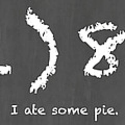 I Ate Some Pie Art Print by Nancy Ingersoll