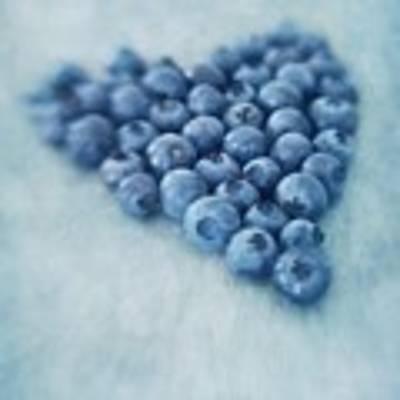 I Love Blueberries Art Print by Priska Wettstein