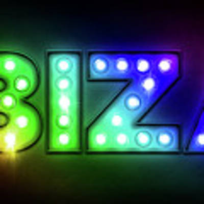 Ibiza In Lights Art Print