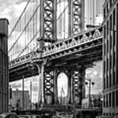 Iconic Manhattan Bw Art Print by Az Jackson
