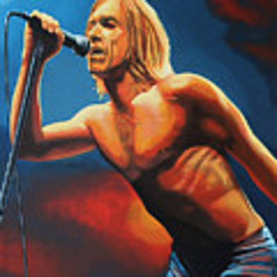 Iggy Pop Painting Original by Paul Meijering