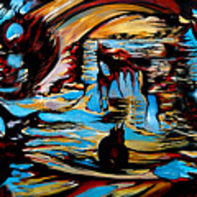 Incidental Landscape With Secret Reality Art Print by Carmen Fine Art