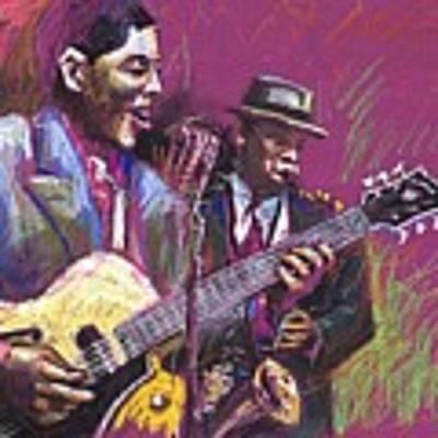 Jazz Guitarist Duet Art Print