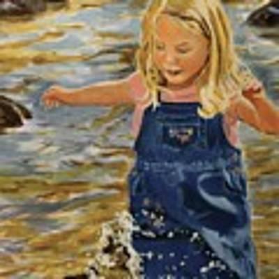 Kate Splashing Art Print by David Gilmore