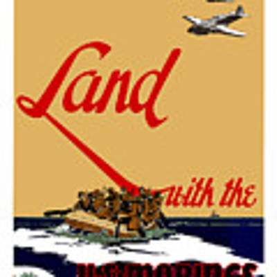 Land With The Us Marines Art Print