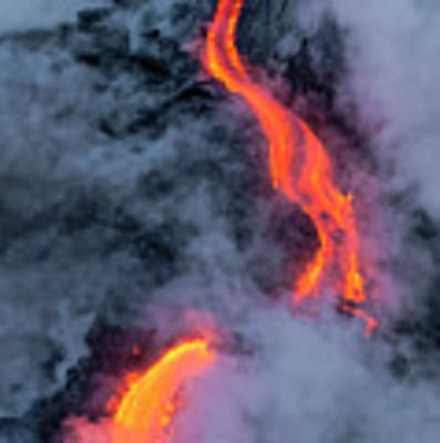 Lava Flowing Into The Ocean 20 Art Print by Jim Thompson