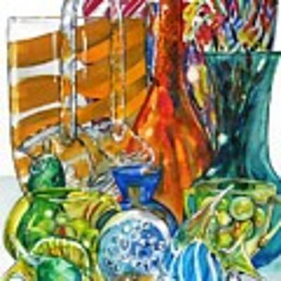 Layers Of Glass Art Print by Jane Loveall