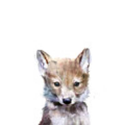 Little Wolf Art Print by Amy Hamilton