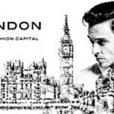 London The Fashion Capital Art Print by ISAW Company